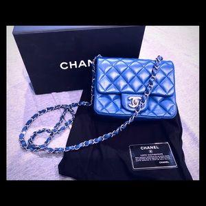 CHANEL - King Blue Mini Classic Flap Bag 💙